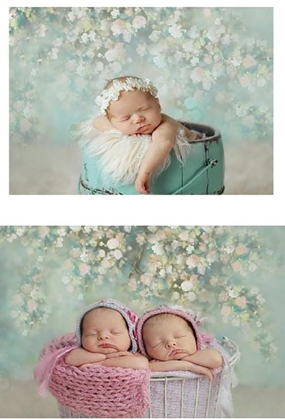 Portrait Floral Wedding Baby Show Backdrop for Photo Studio