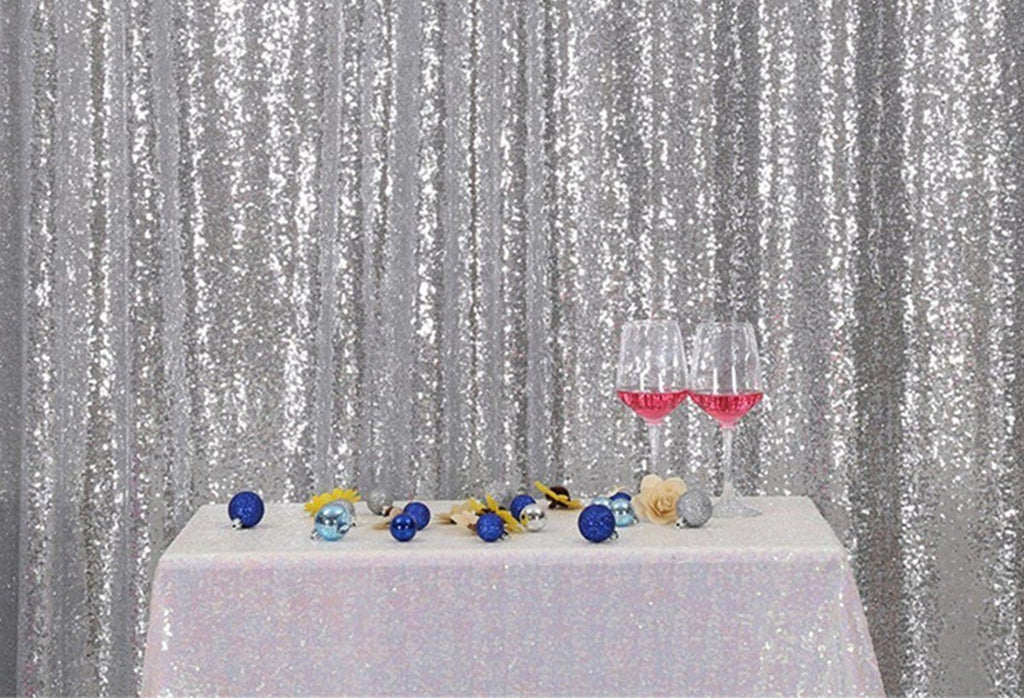 sliver Sequins Fabric Photography Backdrop for Party
