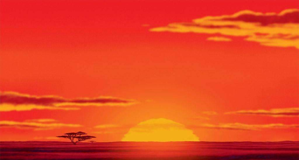 Lion King Sunset Backdrop for Photography
