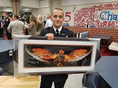Firefighter Art - Firefighter Gift - No Greater Love Art