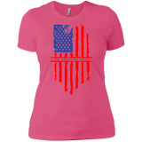NGL Tattered American Flag Ladies' Boyfriend T-Shirt