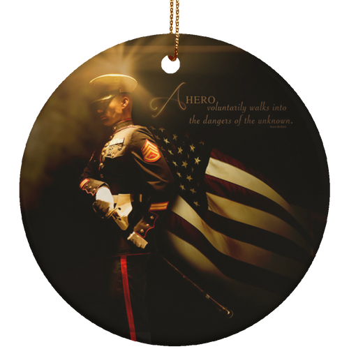 Heroes Of A Nation Marine Ceramic Ornament