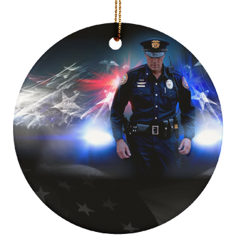 Police Ceramic Ornament