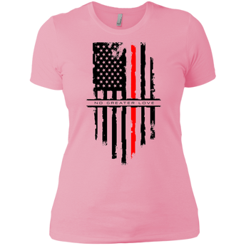 NGL Tattered Red Line Flag Ladies' Boyfriend T-Shirt