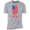 NGL Tattered American Flag with Verse Premium Short Sleeve T-Shirt