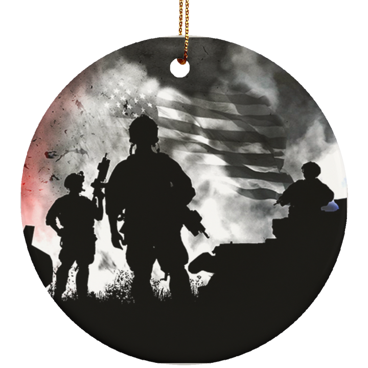 Colors of Freedom Ceramic Ornament