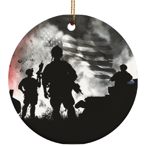 Fire Fighter Ceramic Ornament