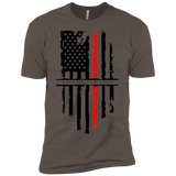 NGL Tattered Red Line Flag Premium Short Sleeve T-Shirt