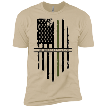 NGL Tattered Green Line Flag Premium Short Sleeve T-Shirt