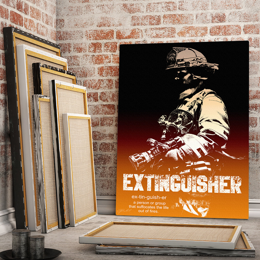 Extinguisher - Wrapped Canvas