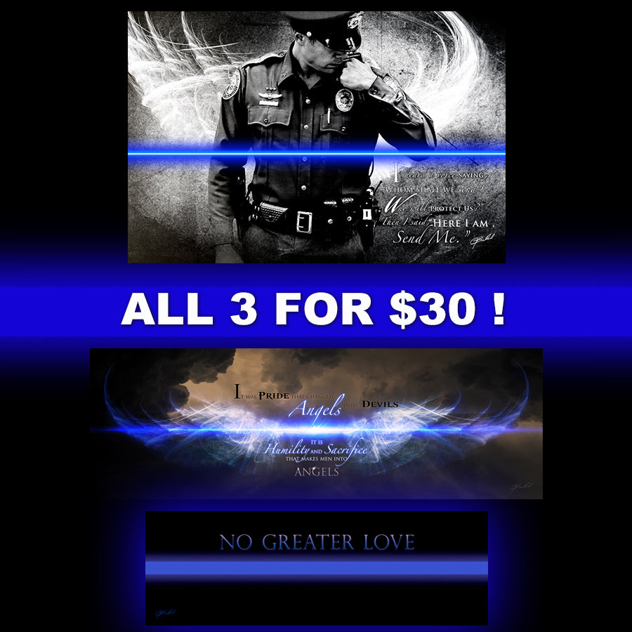 Blue Line Police Print Bundle