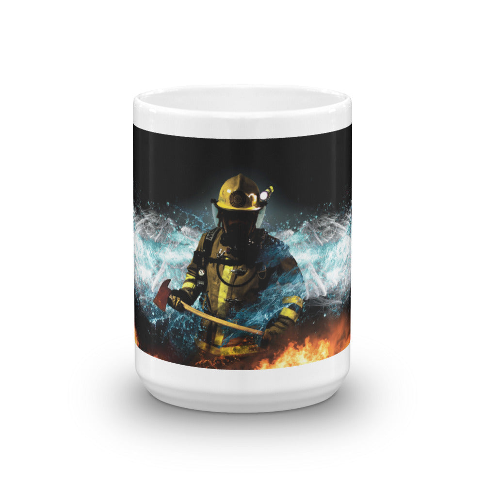 Baptizing Hell Firefighter Mug