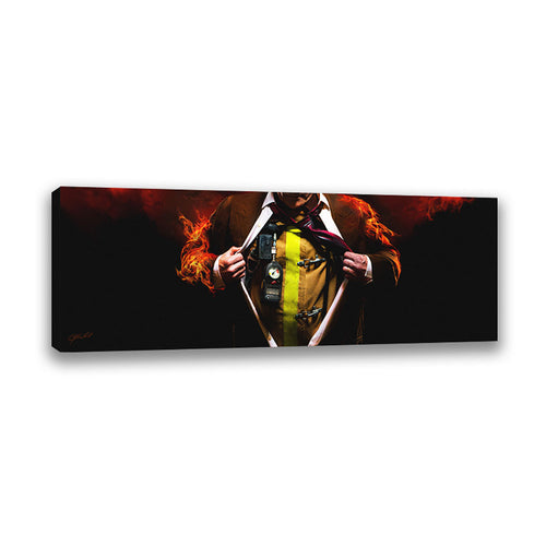 Answering the Call (Firefighter) - Wrapped Canvas