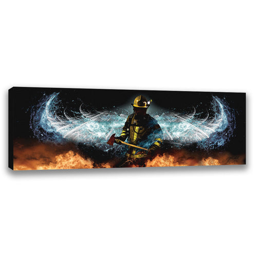 Baptizing Hell - Wrapped Canvas