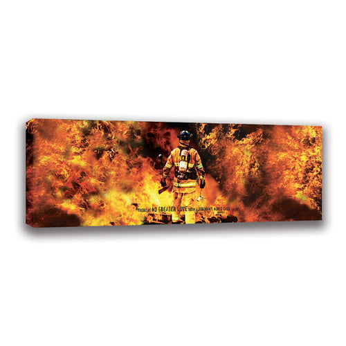 Firefighter's Noble Call - Wrapped Canvas
