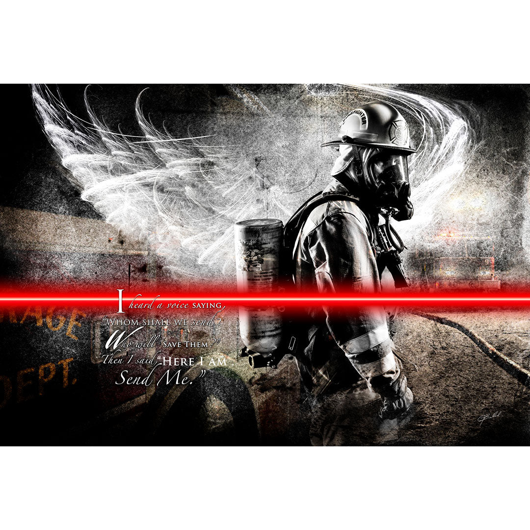 Send Me (Firefighter) - Metal Art