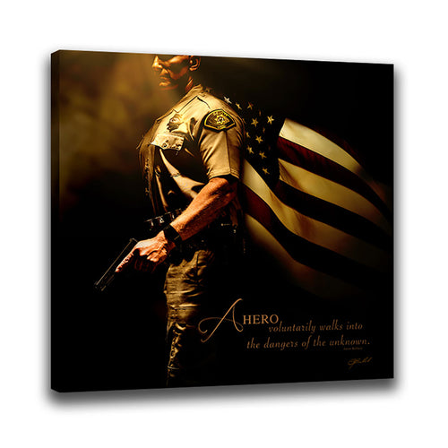 Heroes of a Nation (Sheriff) - Wrapped Canvas