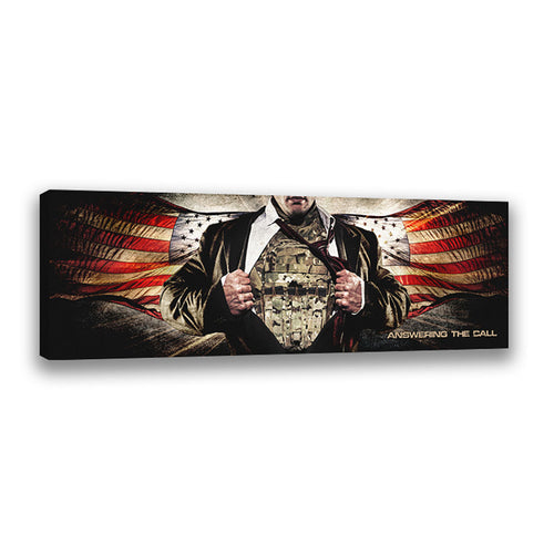 Answering the Call (Military) - Wrapped Canvas