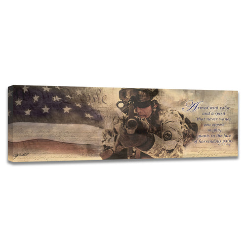 Armed with Valor - Wrapped Canvas