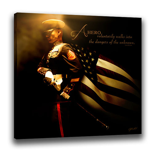Heroes of a Nation (Marine) - Wrapped Canvas