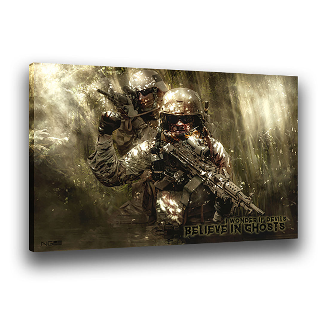 Hunting Devils - Wrapped Canvas