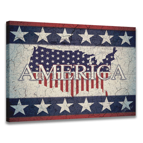 America - Wrapped Canvas