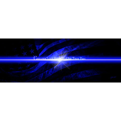 Blue Line Flag - Wrapped Canvas