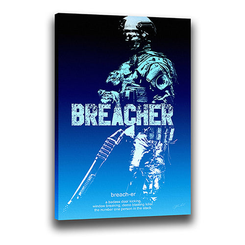 Breacher - Wrapped Canvas