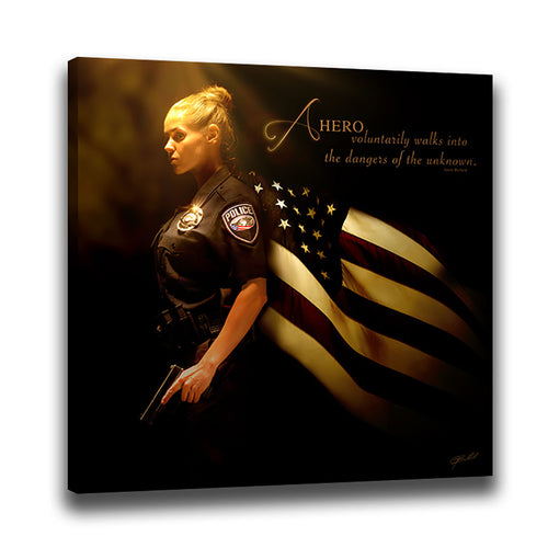 Heroes of a Nation (Law Enforcement) - Wrapped Canvas