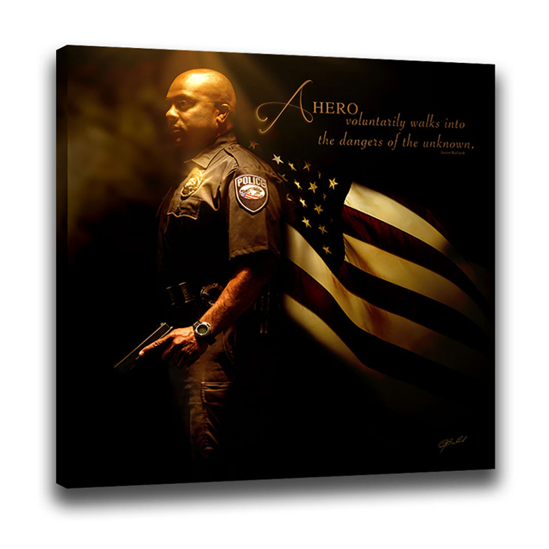 Heroes of a Nation (Police) - Wrapped Canvas