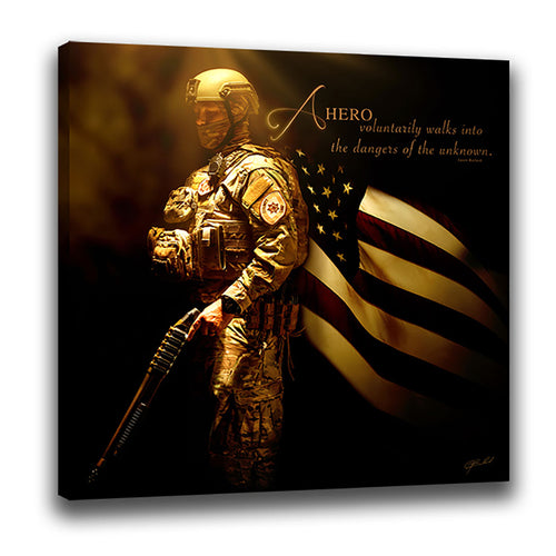 Heroes of a Nation (SWAT Breacher) - Wrapped Canvas