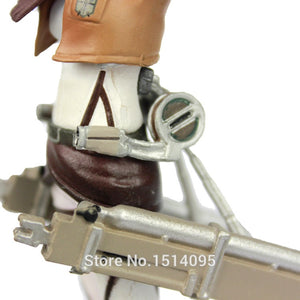 Anime Attack On Titan Mikasa Ackerman PVC Action Figure 12cm - Casa dos Nerds