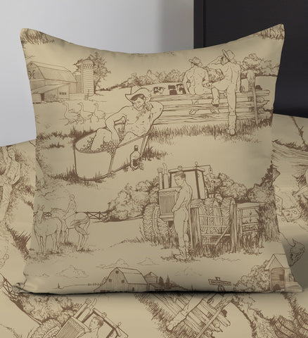 Cowpokes • Wheat • Throw Pillows