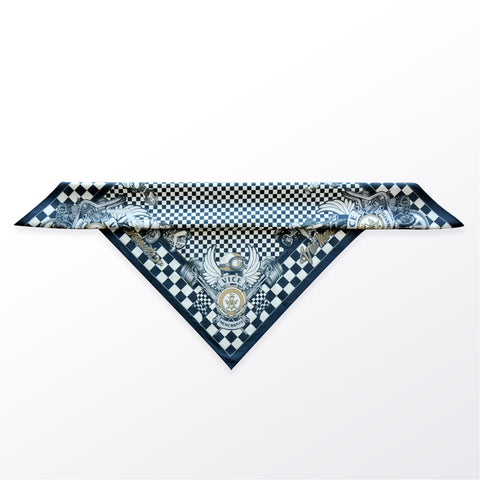 Cafe Racers • Navy & Gold • Sexy Scarves