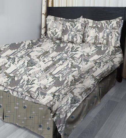 Deco Dems • Grey • Complete Bedding Sets