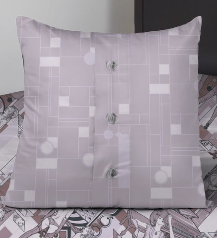 Deco Dems • Lilac • Throw Pillows