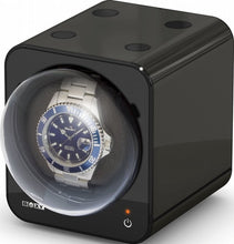 Load image into Gallery viewer, Boxy Fancy Brick Watch Winder Black+adapter