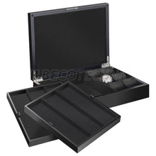 Load image into Gallery viewer, Beco Castle watch collector's box for 12 watches, matt black, black lining