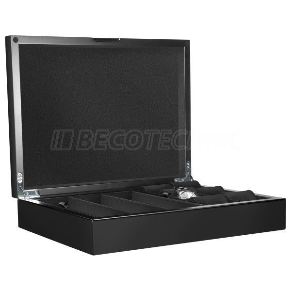 Beco Castle watch collector's box for 12 watches, matt black, black lining