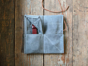 Waxed canvas 2 pocket watch pouch