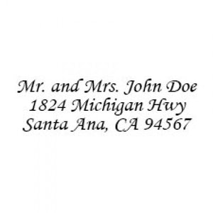 Small Address Stamp