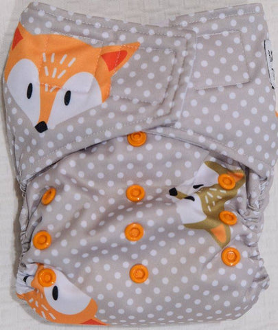 'All-in-one' (AIO) Nappy: Polka Fox