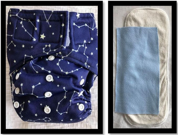 'All-in-one' (AIO) Nappy: Constellations