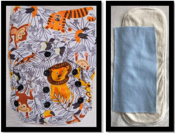 'All-in-one' (AIO) Nappy: Jungle Safari