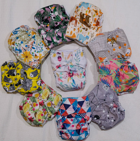 AIO Mega Pack: 10 Baby Tree Nappies for $225 (usually $300!)