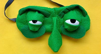 Look Into My Eyes, Felted Eye Mask