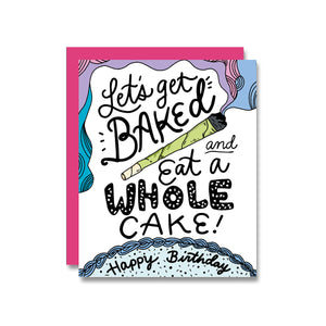Baked Cake Birthday Card