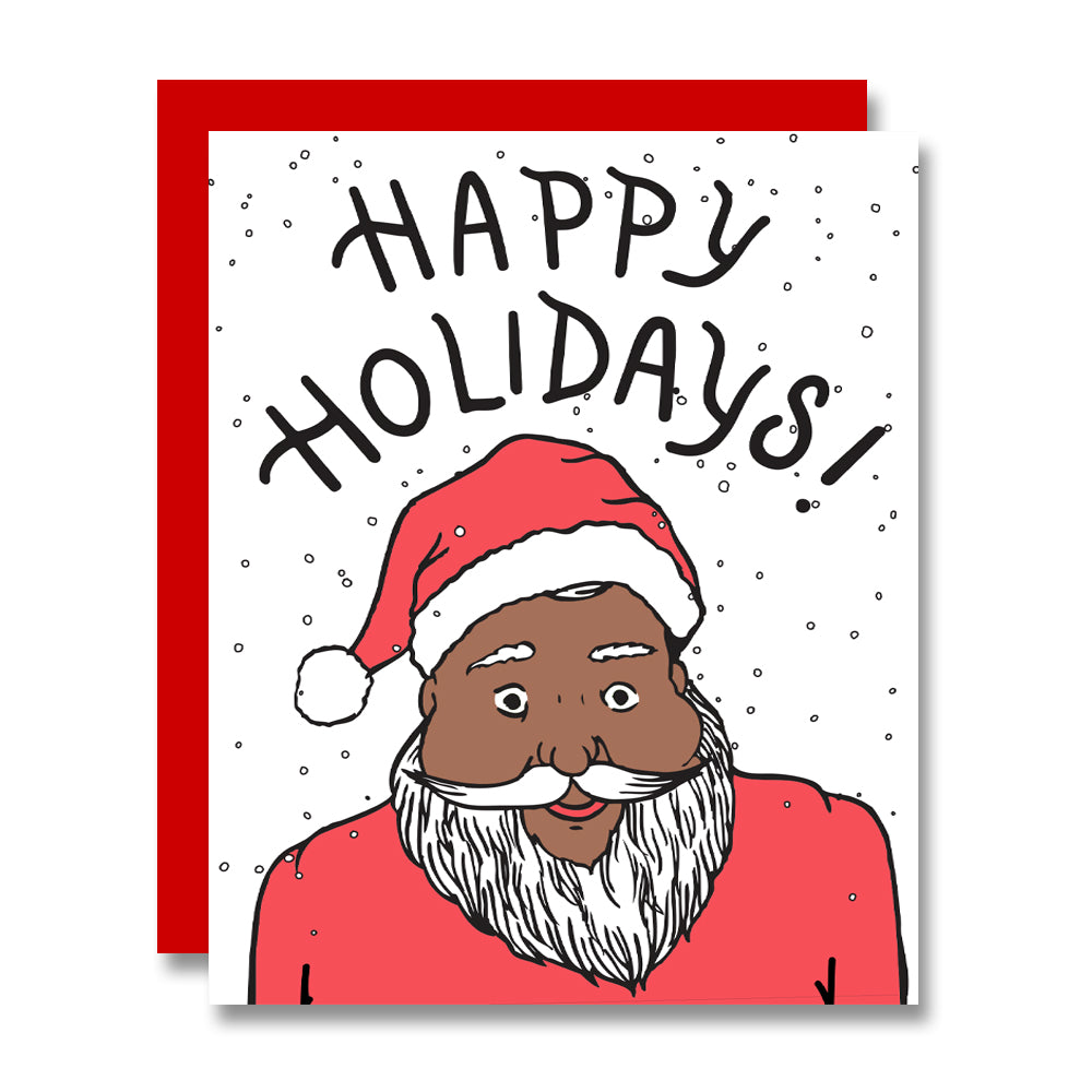 Jolly Santa, Letterpress Holiday Card