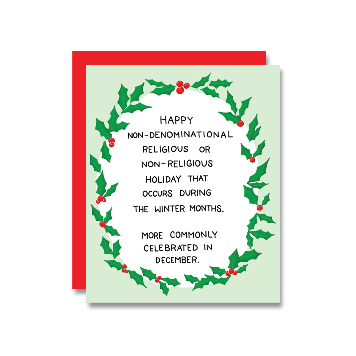 Non-Denom Holiday, Card
