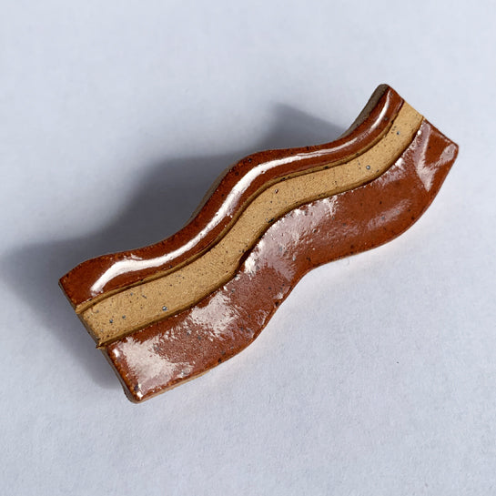 Side of Bacon Ceramic Pin